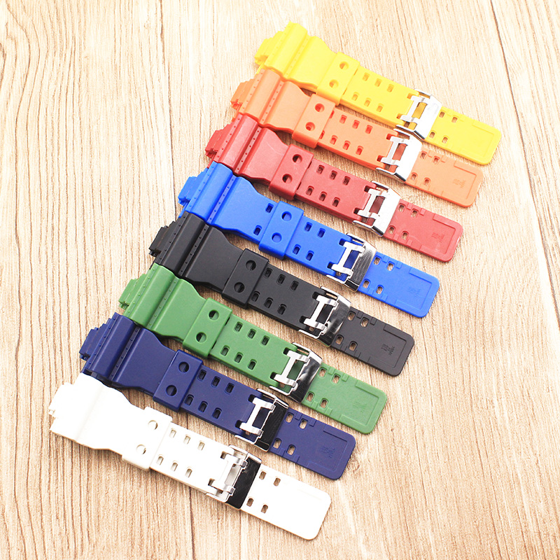 The latest rubber 16MM strap strap Apply to for Casio GA-100 GA-120 GA-120 G-8900 GD-100 GD-120 GA-100C watch accessories