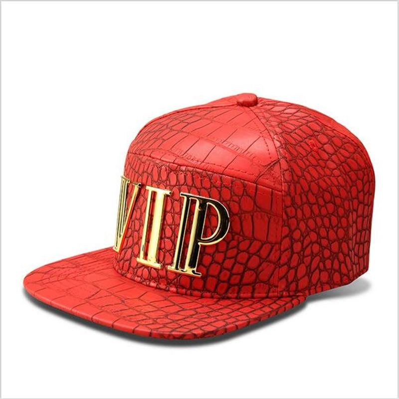 Golden VIP Letter Snapback Sombreros de béisbol Hip Hop Street Faux PU Gorras Huesos para hombres Mujeres Moda USA Mujeres Gorro Casquette Hat