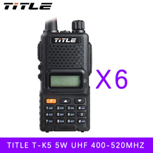 (6 PCS)Black KSUN protable radio UV-K5 Dual Band UHF 400-520MHZ FM RADIO Two Way Radio walkie talkie