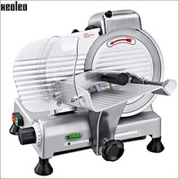 Xeoleo Commercial 8 Inch Semi Automatic Meat Slicer Machine Frozen Meat Slicer Aluminium Magnesium Alloy Material