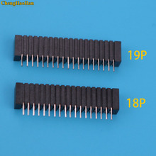 ChengHaoRan 10pcs Flex Ribbon Cable Connect Port Conductive Film Socket 18pin Connector For Playstation 2 PS2