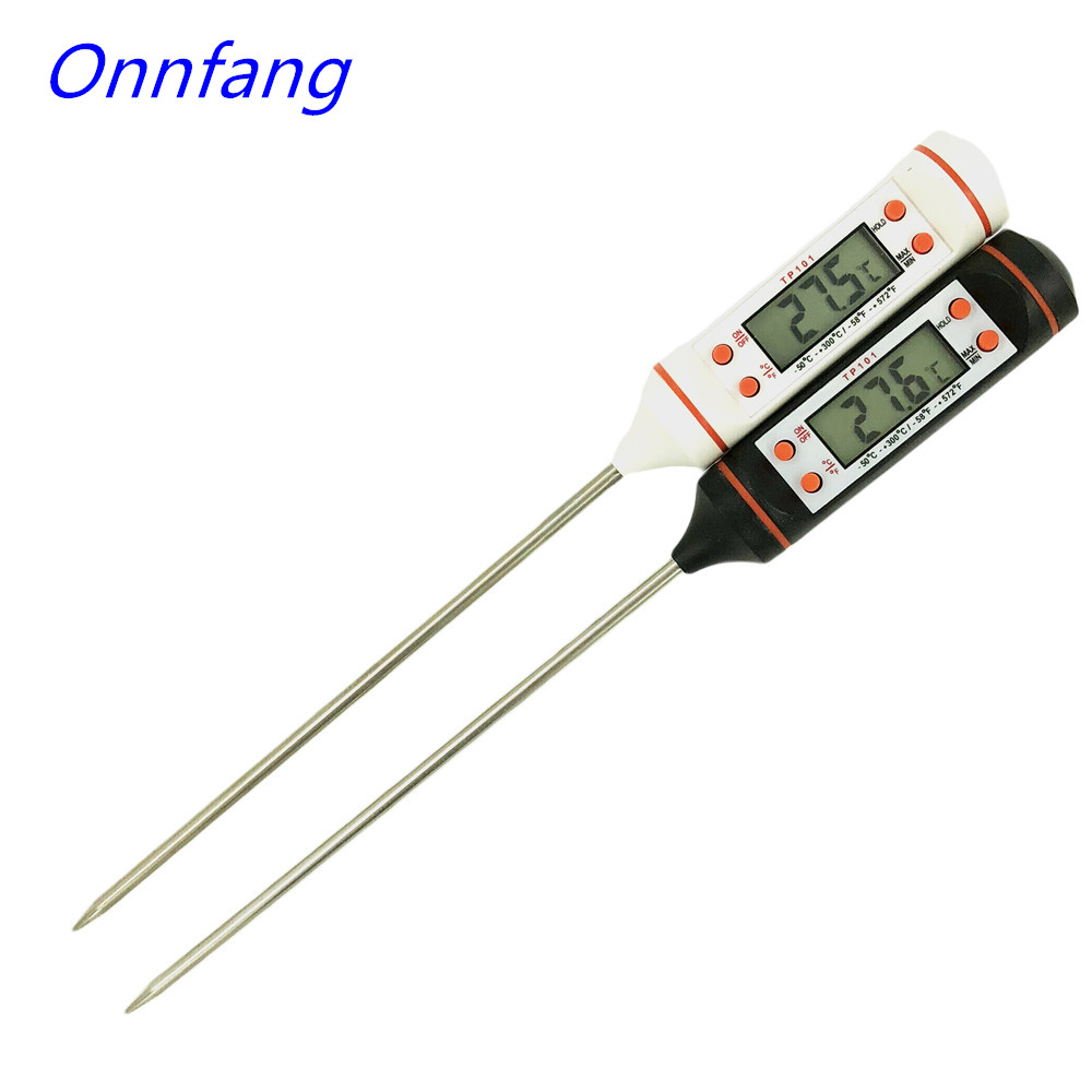 Onnfang Kitchen Digital Food Thermometer Meat BBQ Dinning Cake Candy Fry Food Temperature Household Cooking Thermometer the meat cake bible
