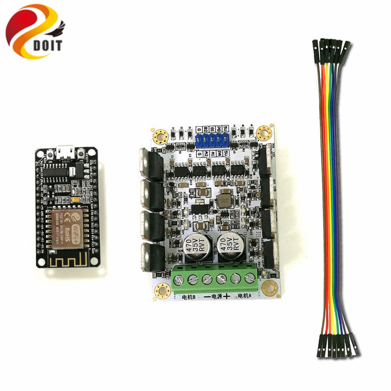 DOIT Video Control Kit for Robot Arm Tank/Car Chassis Remote Control by NodeMCU Board+Motor Drive Shield+Openwrt Router Camera free shipping 3v 0 2a 12000rpm r130 mini micro dc motor for diy toys hobbies smart car motor fod remote control car