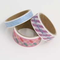 3pcs Set Different Size Cool Washi Paper DIY Scrapbook Masking Tapes