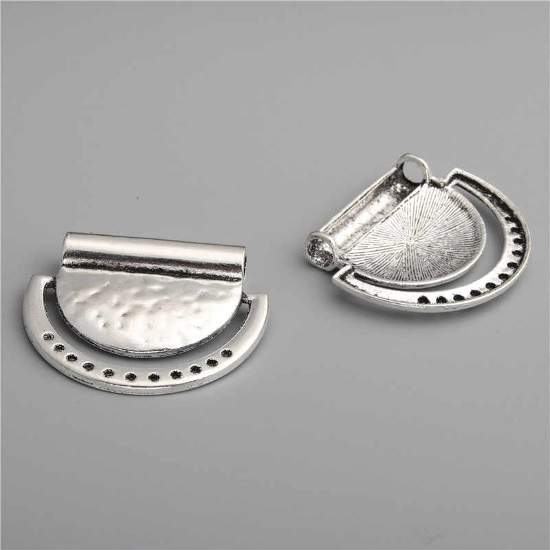 5 шт., полукруглый соединитель из серебряного сплава, подвески, украшения для люстры, ожерелье для изготовления, сделай сам, A2789