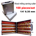 100PCS  1/4 Shank Woodworking Cutting Tools 6.35mm Engraving machine bits Engraving bits engraving blades