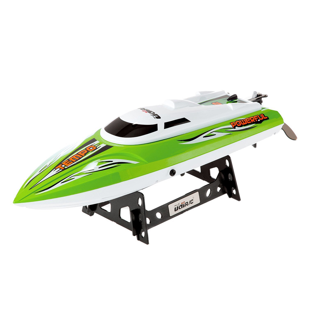 Udirc UDI002 Tempo Remote Control Boat for Pools, Lakes and Outdoor Adventure - 2.4GHz High Speed Electric RC Green 3 speed change remote and manual control 60 90 120 secs circle 60x10cm electric turntable display stand rotary model show