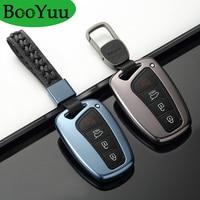 Booyuu Car Keys Shells Key Protective Cover For Hyundai ix45 Grand Santa Fe Equus Genesis 2013 2016 3 button 4 button key Case