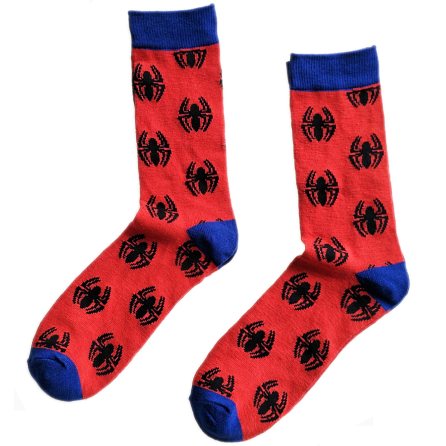 The Avengers Spider-Man Socks Street Cosplay Cotton Comics Women Men Crew Socks Party Novelty Funny Party halloween socks 2018