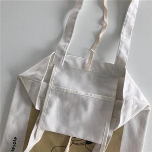 Image 3 - Youda orijinal basit kadın çantası zarif kanvas çanta moda bayan omuz çantaları rahat alışveriş Tote sevimli kız çanta