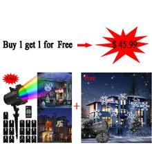 Kmashi 16 Diapositives Remplaçable LED Projecteur Lumière Lumières De Noël En Plein Air Projecteur Laser Lumière Halloween Garden Party jeu de Lumières UE