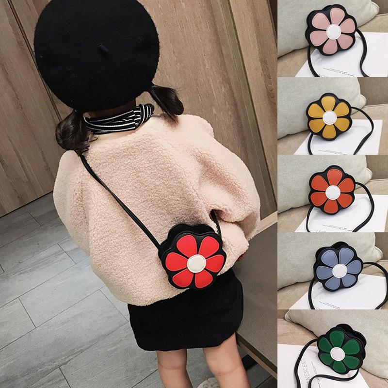 Baby Girls Mini Messenger Bag Cute Floral Kids Small Coin Purses Children Handbags Shoulder Bags Lovely Polygonal Bag
