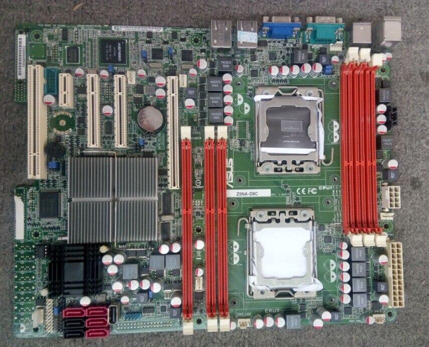 ASUS Z8NA-D6C original motherboard DDR3 Socket 1366 Desktop motherboard Free shipping