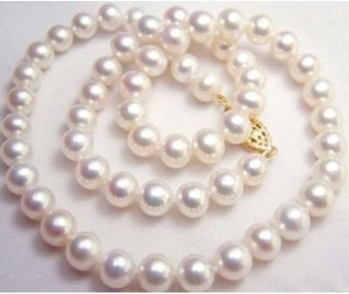 GENUINE NATURAL 9 10MM WHITE SOUTH SEA AAA PEARL NECKLACE 20 INCH