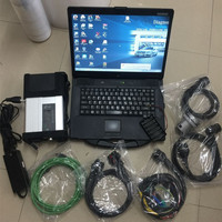 star mb multiplexer c5 diagnosis with software 2019.05 super ssd Notebook cf52 laptop 4G ready to work 12v 24v