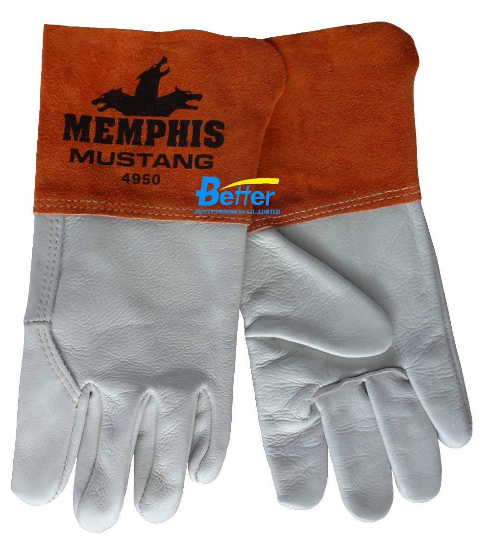 Gauntlet cuff leather work gloves -  Leather Work Gloves 3107 Por Gauntlet Cuff Gloves Gauntlet Cuff Gloves Lots