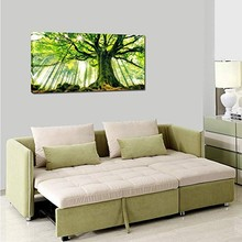 Canvas Large Art Print Spring Forest Nature Green Big Tree Wall Art Photo Printed on Canvas Artwork for Office Wall Decoration(China)