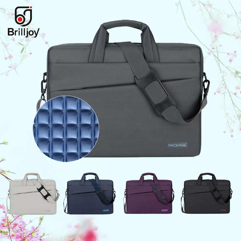 cc758becc313 Brilljoy Waterproof briefcase Laptop Handbag for 13 14 15 17 Inch Computer  Bussiness Travel Men and