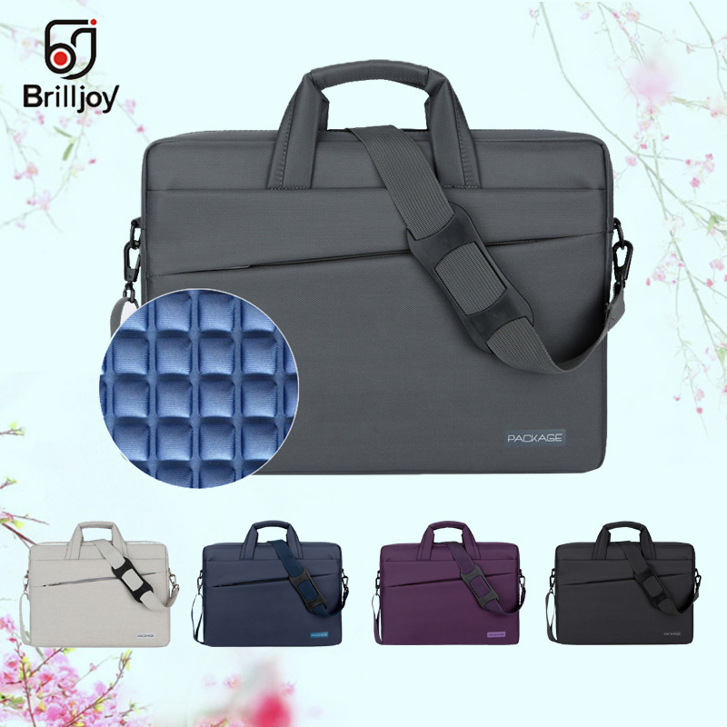 Brilljoy Waterproof briefcase Laptop Handbag for 13 14 15 17 Inch Computer Bussiness Travel Men and Women Notebook Messenger Bag xiyuan brand large capacity laptop handbag for men travel briefcase bussiness notebook bag for 14 15 inch macbook pro dell pc