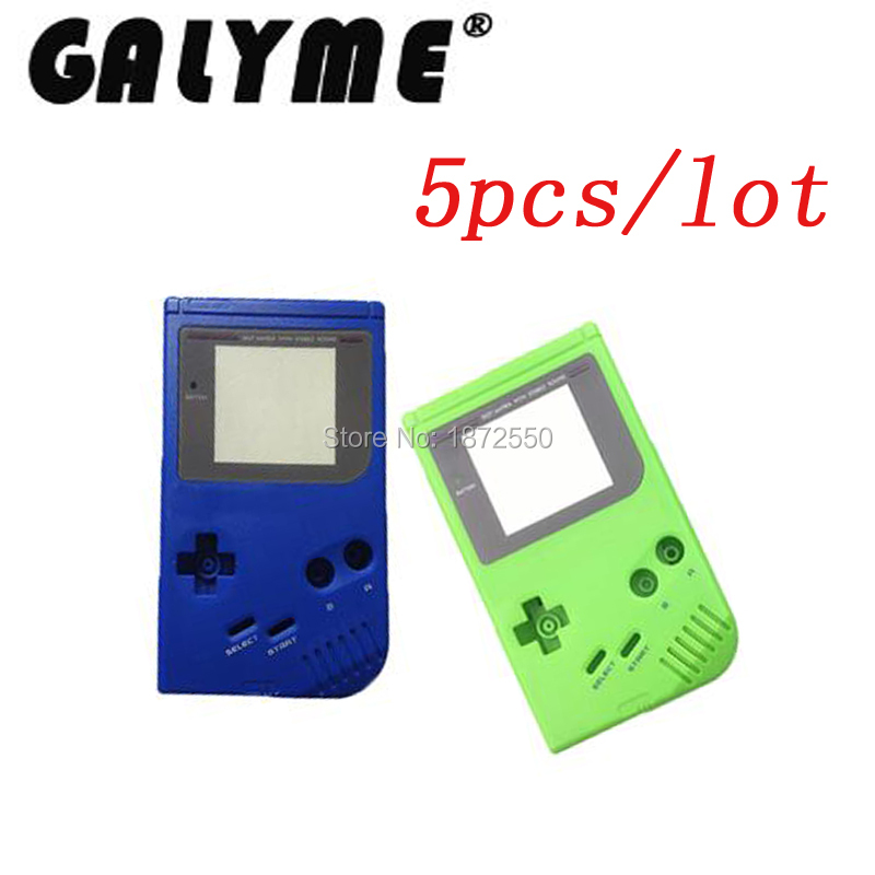 5pcs/lot Green/Blue Color Plastic Shell Cover Fit GameboyGB GBO DMG Classic Game Replacement Case GBP For Boy Console Housing