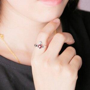 Image 5 - [مصير البقاء ليلة] رين Tohsaka خاتم أنيمي 925 فضة مجوهرات Emiya عمل الشكل مصير الطلب الكبير FGO FSN هدية
