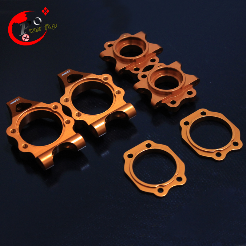 King Motor Baja 5b Alloy rear hub carrier set  for HPI BAJA 5B Parts Rovan Free Shipping king motor baja alloy roto start pull starter for hpi baja 5b parts free shipping