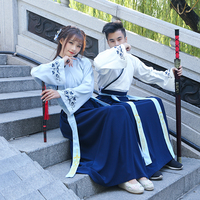 Men Traditional Swordsman Hanfu Clothing Women Han Dynasty Hanfu Cosplay Costume Chinese Ancient Oriental Robe Stage Outfit 90