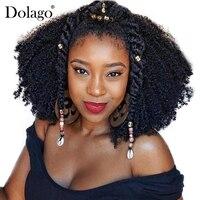 Human Braiding Hair Bulk No Attachment Mongolian Afro Kinky Curly Bulk Hair For Braiding 1Pc Crochet Braids 4B 4C Dolago Remy