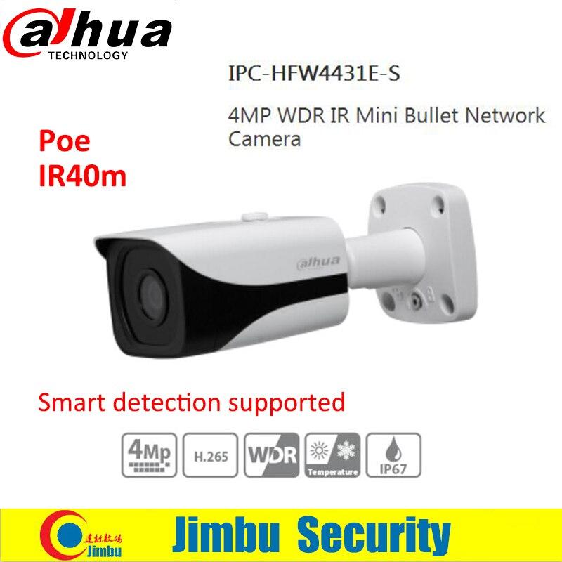 Dahua IP Camera 4MP IPC-HFW4431E-S H.265 Fixed Lens3.6mm IR40m Waterproof Network IP67 Smart Detection Bullet CCTV Camera цена