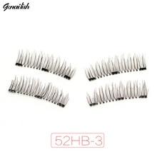 Genalish 6D 0.2mm Magnetic Eyelashes Extension Eye Beauty Makeup Accessories Soft Fake Eyelashes False lashes 52HB-3