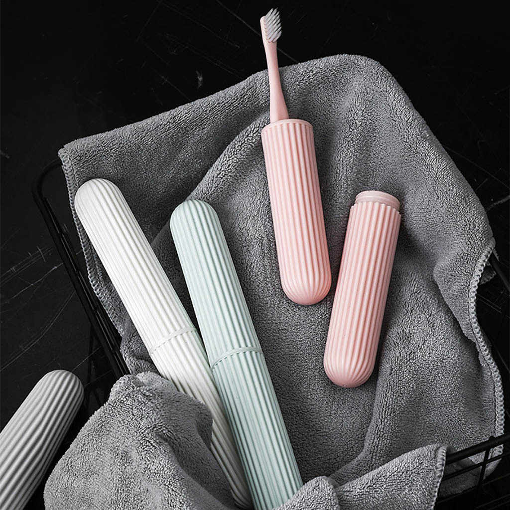 Portable Travel Camping Hiking Set Toothbrush Storage Toothpaste Holder Case Box boite de rangement maquilage Keep Clean