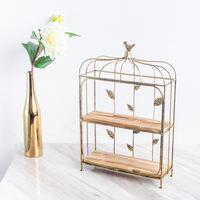 Birdcage snack frame wrought iron wedding dessert table decoration cup cake rack multilayer snack display stand