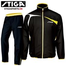 Подлинная Одежда STIGA для настольного тенниса для мужчин и женщин, одежда с длинными рукавами, комплекты Джерси для пинг-понга