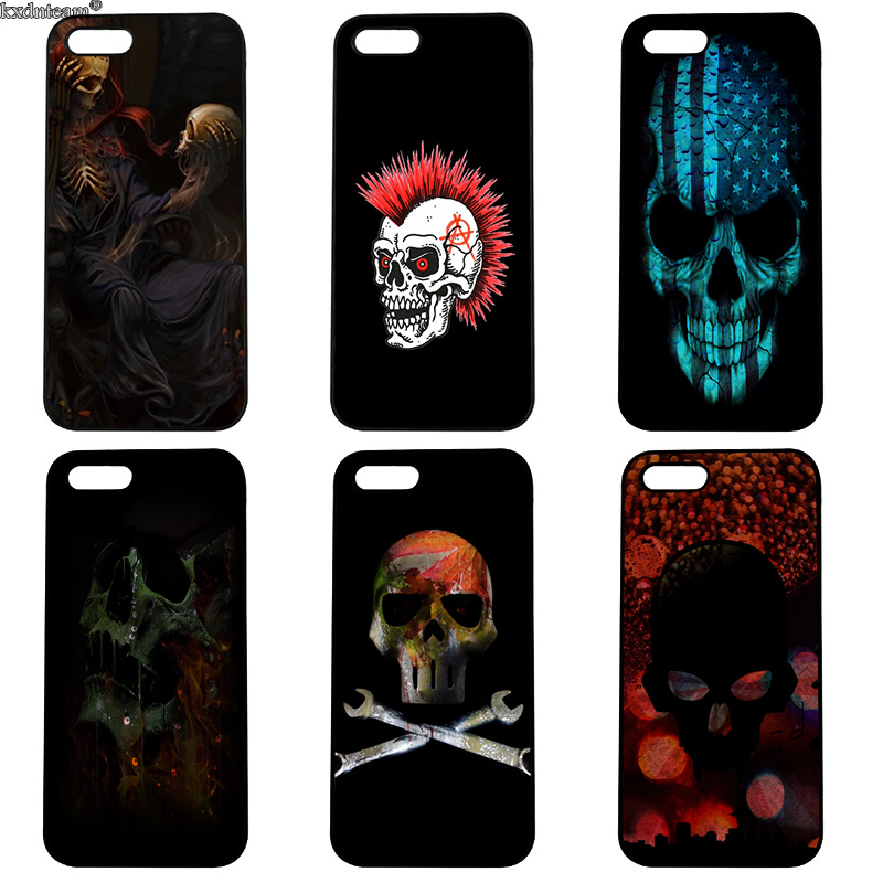 Fashion Retro Style Skull Hard PC Phone Cases Cover Fitted for iphone 8 7 6 6S Plus X 5S 5C 5 SE 4 4S iPod Touch 4 5 6 Shell
