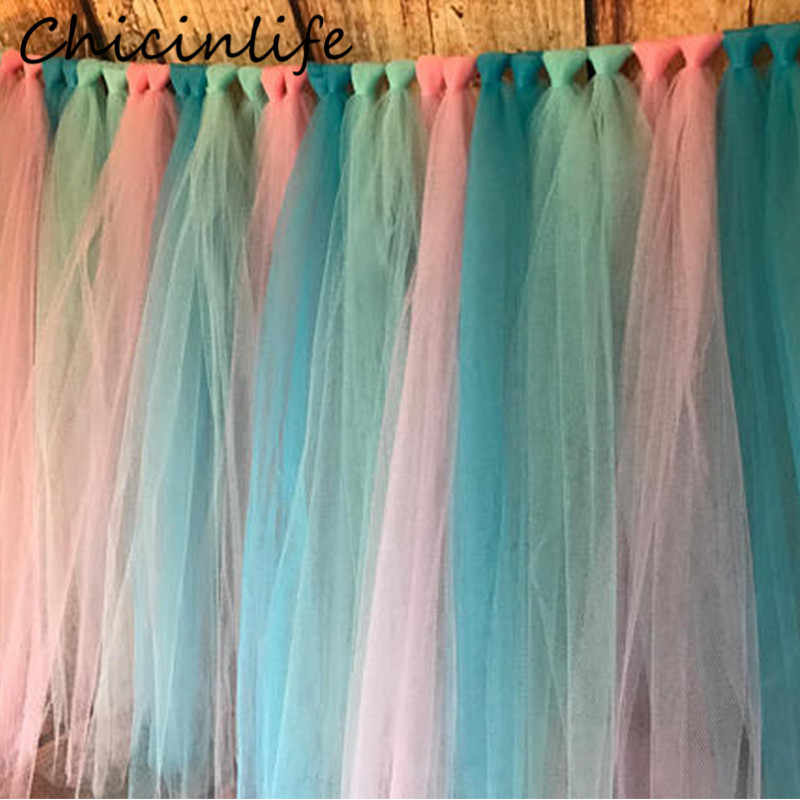 Chicinlife 1 комплект ювелирных изделий ручной работы с вуалью и балетной пачкой Юбка для стола День рождения малыш душ мальчики девочки детский стульчик Декорации для свадьбы