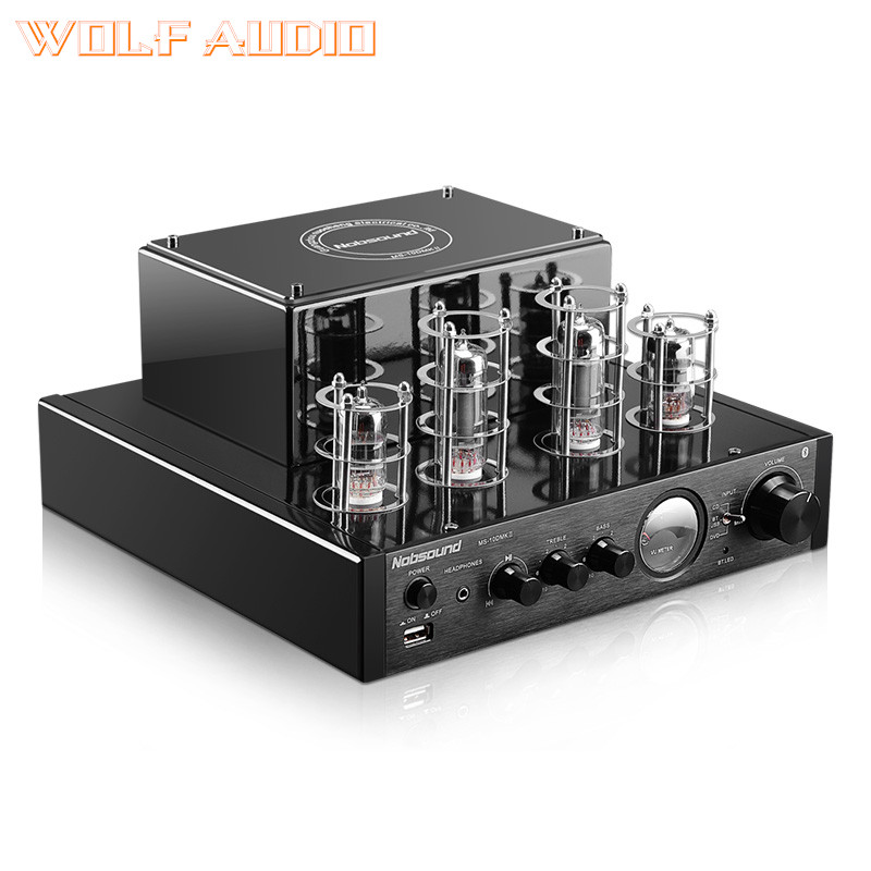 Finished 6N1+6P1 Bluetooth Stereo USB Tube amp HIFI Tube Audio amplifier Adjustable bass and treble