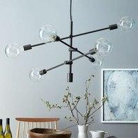 Nordic Simple Art Style Dining Room Pendant Light Postmodern Black / Gold Cafe Livingroom Restaurant Decoration Lamp
