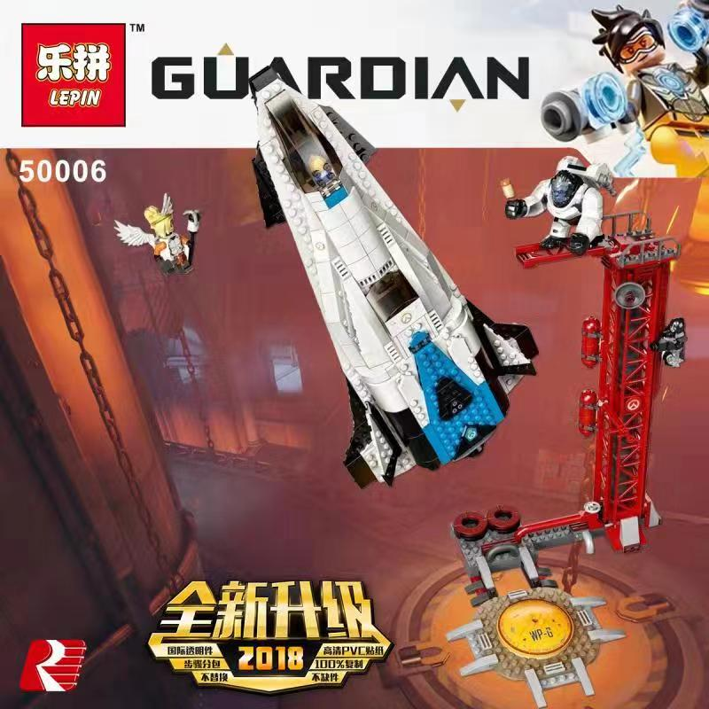 New Lepin 50006 Overwatching Games The Legoing 75975 Watchpoint Gibraltar Set Building Blocks Bricks Kids Toys Christmas Gifts цена