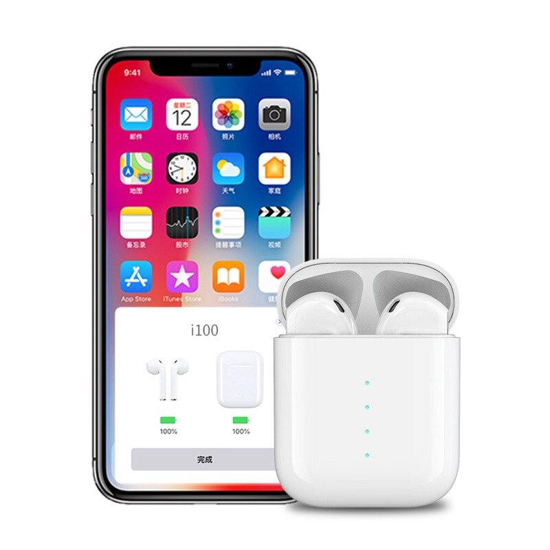 I100 TWS Pop Up 1:1 taille sans fil Bluetooth écouteur utilisation séparée QI sans fil charge basse écouteurs PK i30 i20 i12 i11 TWS