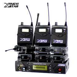 EW 300 Pro Monitoring UHF Wireless In Ear Headphone Stage Monitor System USB 1 Transmitter With 9 Receiver Recording Audio Mixer