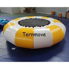 Надувной батут круглой платформе прыжки кровать плавающие игрушки воды гимнастика, батут воды вышибала надувной батут