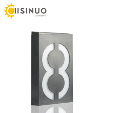 House Number Solar Powered Wall Mounted 6 LEDs Bulb IP65 waterproof Illumination Doorplate Lamp Porch Lights With Solar Battery