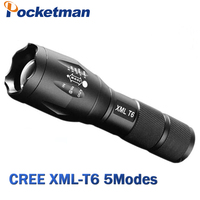 LED Flashlight 6200 Lumnes CREE XM L T6 LED Tactical Flashlight Torch 5Mode Zoomable Flashlight Waterproof