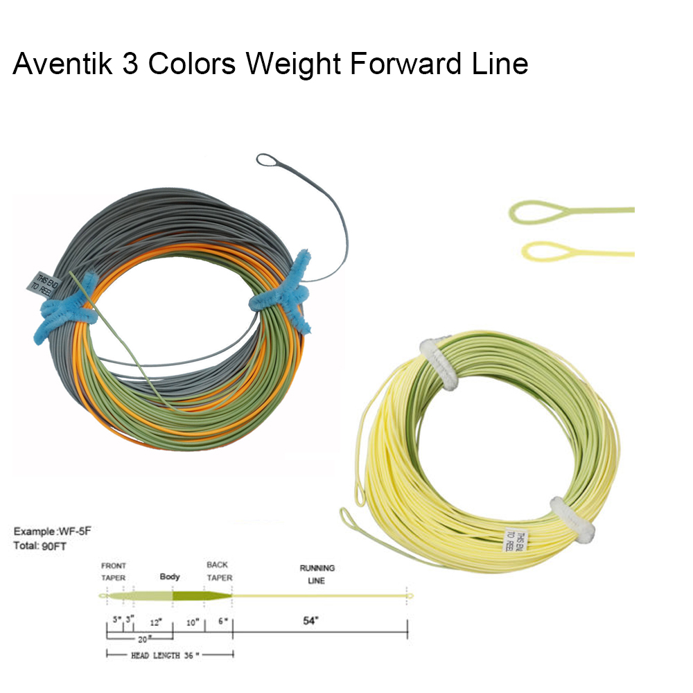 Aventik 3 Colors Percerption Trout Fly Fishing Line Weight