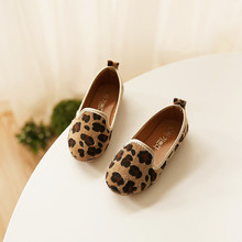 2017 spring new Korean version of the boys and girls casual peas shoes students princess Leopard soft bottom shoes kids Footwear