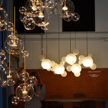 New classical glass ball pendant lights foyer frosted milky white glass shade bubble droplight hotel restaurant decoration light white glass ceiling lamp modern design frosted glass shade light home collection lighting bedroom foyer doorway cloud lights