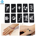 OPHIR Airbrush Stencil Set 10 pcs Temporary Tattoo Stencils(Angel series) for Body Painting Glitter 7.1cm x 3.6cm_TA032C