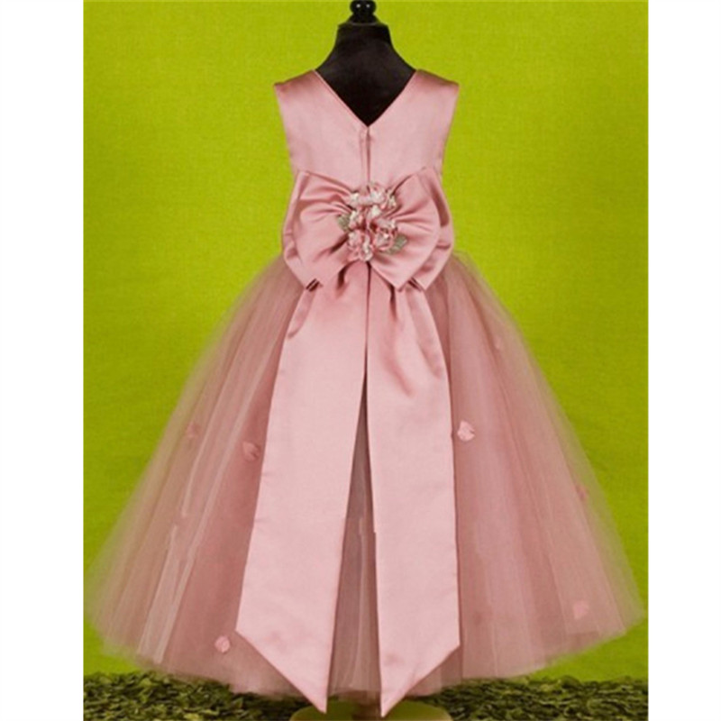 2019 Pink Flower Girl Dresses Special Occasion For Weddings Kids Pageant Gowns A Line Lace Appliqued First Communion Dress From Fkansis 7754