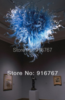 LR006 - Free Shipping Blue Blown Glass Chandelier