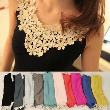 free shipping Daisy cotton thread petals spaghetti strap vest lace crochet basic vest shirt female summer
